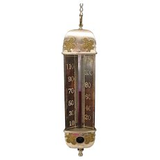 Victorian Taylor Bros hanging Parlor thermometer 3 sided 1887