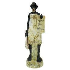 Vintage German bisque Votes for Women black cave woman figure