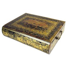 Rare 19th Century Book form Chinese lacquer writing desk with key