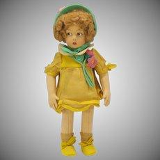 "Vintage Lenci felt doll Easter outfit 13"""