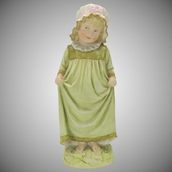 Heubach German bisque figure of a little girl