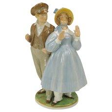 Vintage Royal Copenhagen porcelain figurine of Hans & Trine #1783