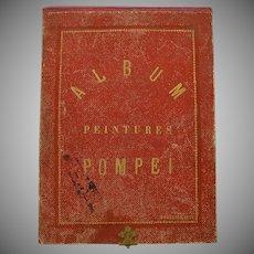 1874 Album peintures Pompeii-rare book of hand colored pictures of frescos Art