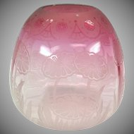 Antique cranberry Arts & Crafts glass oil lamp shade