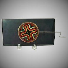 Antique mechanical magic lantern Kaleidoscope slide