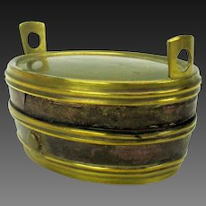 1860's Double novelty traveling inkwell-in the form of a wash tub