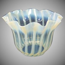 Antique vaseline glass oil lamp shade