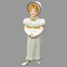 1880's Royal Worcester porcelain Kate Greenaway girl sugar shaker