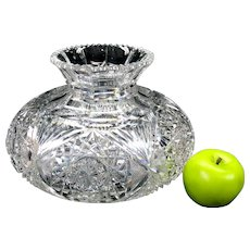 Big antique American Brilliant Period cut glass vase