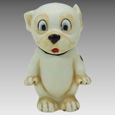 1920's colored German bisque Bonzo dog figure G. E. Studdy 3""