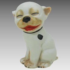 Vintage German bisque Bonzo dog figure Geo. E. Studdy 2 1/4""