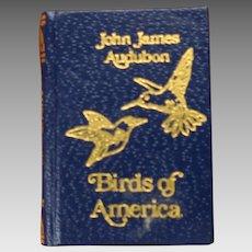 Barbara Raheb miniature dollhouse book Audubon Birds of America 1:12 scale