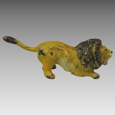 Vintage Vienna cold painted miniature bronze of a crouching Lion