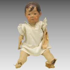 """Antique 16"""" early Kathy Kruse wide hip doll -needs repair"""