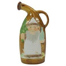 Vintage German bisque Schafer Vater Santa flask small size