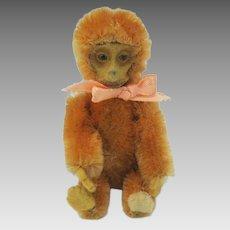 Vintage apricot color Schuco Monkey