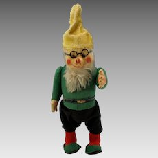 Big near mint Schuco Yes/No Gnome toy with glasses