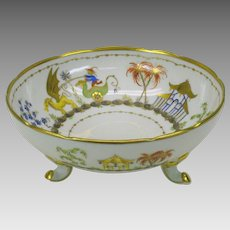 Tiffany Private stock Le Tallec porcelain Cirque Chinois footed center bowl