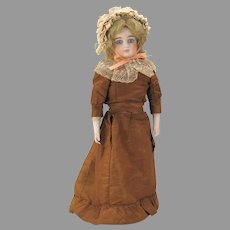 """14"""" Cabinet swivel neck German French market Fashion doll with bisque arms"""
