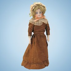 "14"" Cabinet swivel neck German French market Fashion doll with bisque arms"