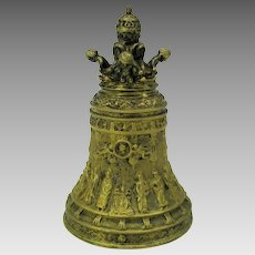 Antique gilded bronze Ecclesiastical table bell