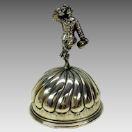 Antique sterling silver figural table bell