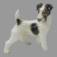 Large vintage Dahl Jensen porcelain figure of a Terrier dog