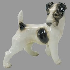 Large vintage Dahl Jensen porcelain figure of a Terrier dog