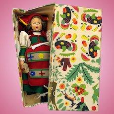 Vintage Lenci doll in original box-surprised eye near mint