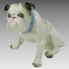 Antique German porcelain Old English Bulldog figure