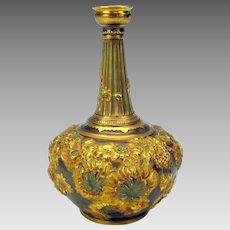 Antique Royal Crown Derby porcelain Repousse vase