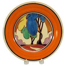 Vintage Clarice Cliff porcelain Bizarre tree design plate