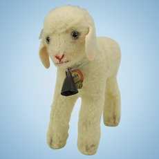 """Vintage Steiff Lamby 6"""" tall"""