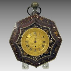 18th Century Eardley Norton wall clock in painted toleware holder