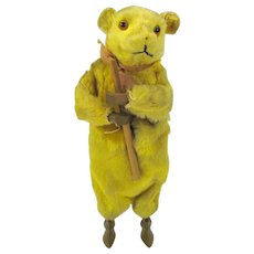 Antique german mechanical Bear toy-clockwork