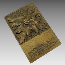 Antique Gorham Company Architectural bronze advertising paperweight