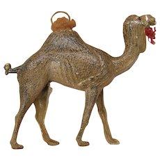 Big antique German Dresden paper Christmas ornament of Camel