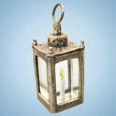 Vintage JJ sterling silver miniature candle lantern doll house miniature