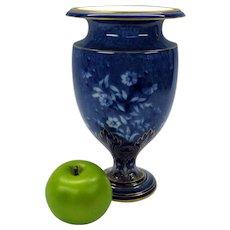 Antique Decore a Sevres blue & white & enameled porcelain footed vase