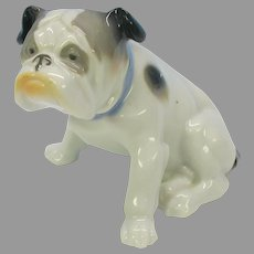 Larger vintage Metzler & Ortloff Old English Bulldog porcelain figure  original label