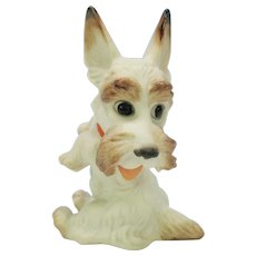 1930's Rosenthal porcelain Scottish Terrier dog #1 by Max Daniel Hermann Fritz