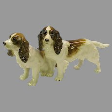 Vintage Hutschenreuther porcelain double figure two Spaniel dogs