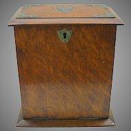 Antique English oak table stationary writing box