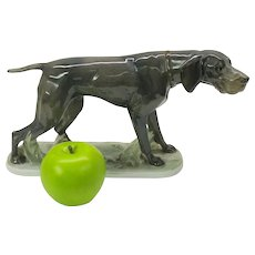 Large Rosenthal porcelain Pointer Dog figure by Fritz Diller 1913
