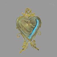 Victorian standing heart shaped watch holder hutch