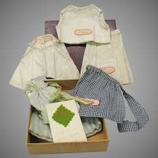 Collection antique school girl made miniature clothes School No. 44 Rochester NY