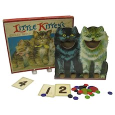 1900's Spears Cat Little kittens tiddly winks game