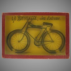 Large vintage French Bicycle dexterity toy