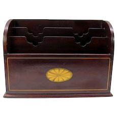 Fine quality Edwardian inlaid mahogany letter stationary box