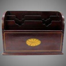 Fine quality Edwardian inlaid mahogany letter stationary box